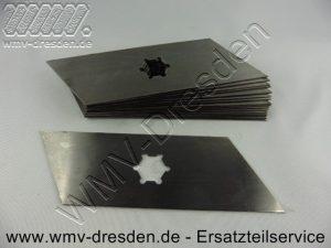 Vertikutiermessersatz >>> 17 Messer, L 166 mm, Breite 1,0 mm <<< ( Fuer L 155 mm bitte die 110.006.069-KYN bestellen ) - (Art.Nr. 110.006.067-KYN)